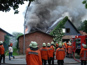 Feuerwehreinsatz bei Hausbrand