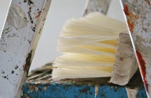 Malerutensilien, die für den Umzug genutzt wurden