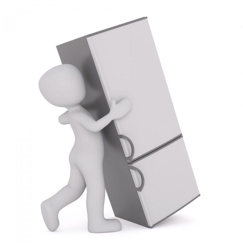 Kühlschrank beim Umzug transportieren