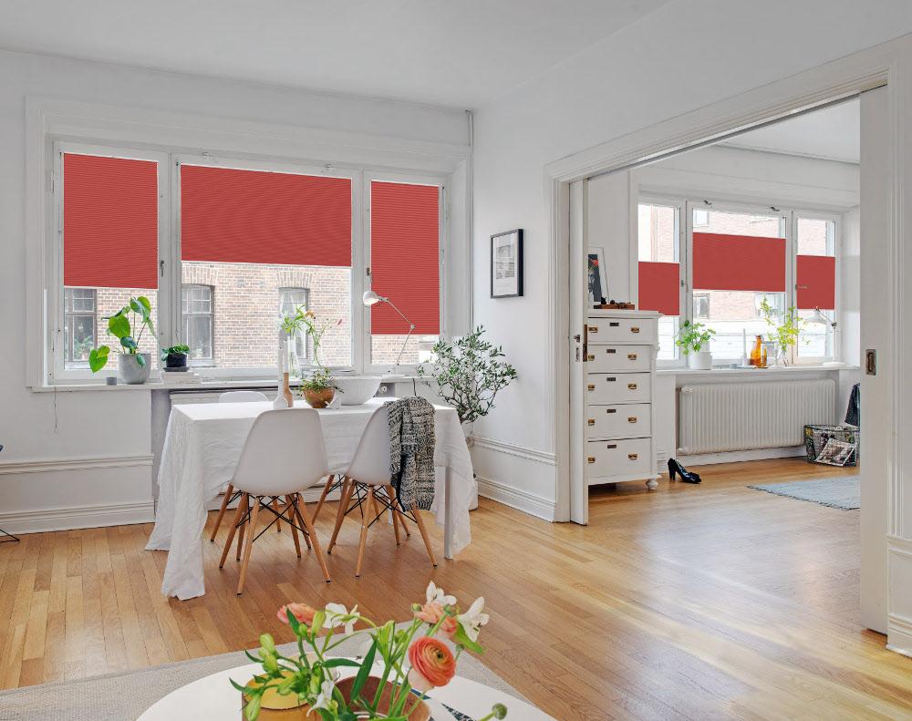 Fenster mit Plisses ohne Bohren